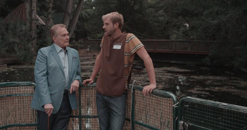 Actor Lee Majors (left) and Boise filmmaker Will von Tagen on the set from last summer. This is von Tagen's first feature to direct and star in.