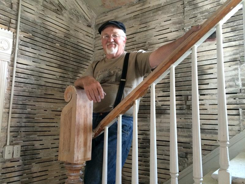 Preservationist Frank Eld fell in love with the Jones house when he saw the stairway. The 1893 home will be moved from Boise's Central Addition to a lot in the East End this week.