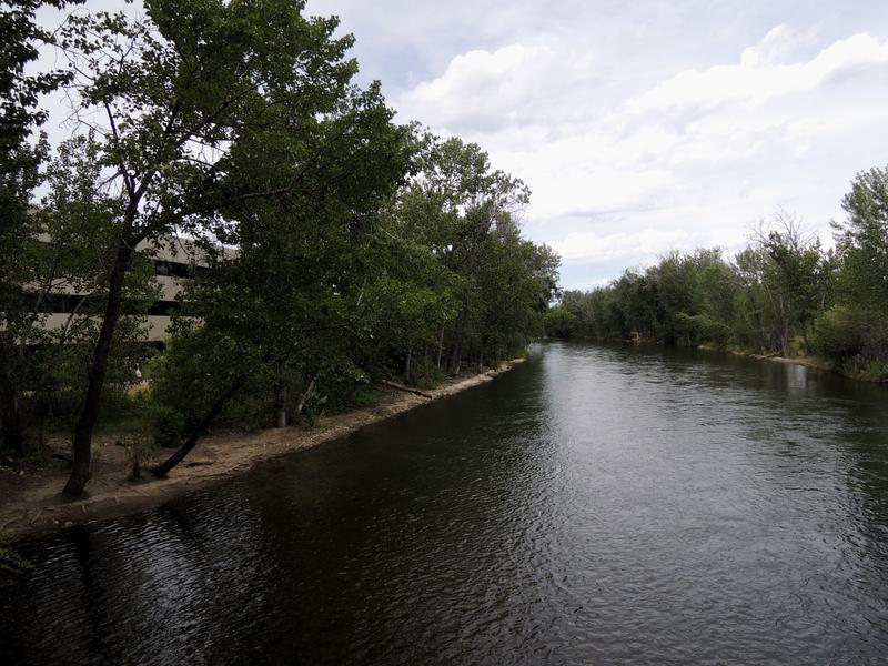 According to FEMA's current floodplain maps, this bank of the Boise River would contain floodwaters. In the first draft of the new maps it wouldn't. Nearby Park Center Blvd has the most land added to the floodplain in the city of Boise.