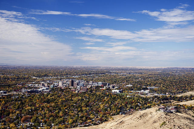 Looking down on Boise from Table Rock