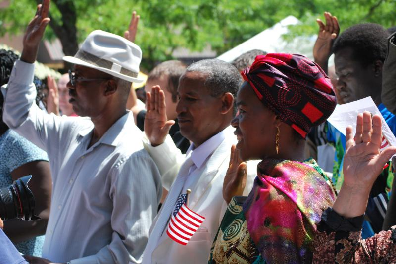 These people were natualized as U.S. citizens in Boise on World Refugee Day 2010.