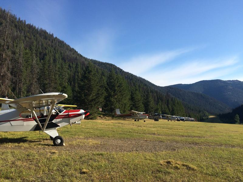 The Big Creek airstrip is one of many recreational airstrips in Idaho's backcountry. Pilots land in a narrow valley in the Payette National Forest.
