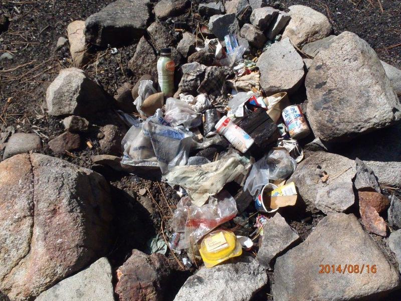 Messy campers are leaving all kinds of trash in fire pits at campsites in the Boise National Forest