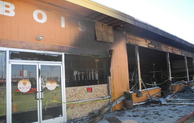 A fire started late Saturday night destroyed the Boise International Market which had been open for less than a year.