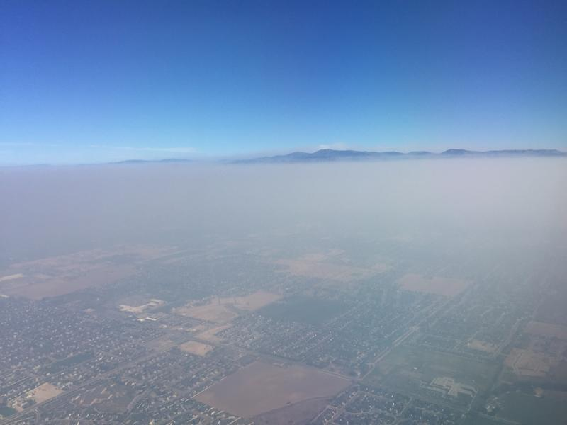 The Treasure Valley is covered by smoke.