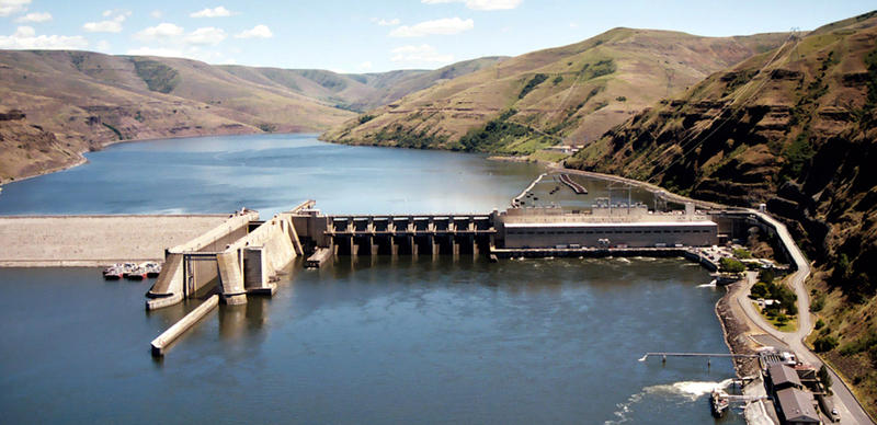 The Lower Granite Dam on the Snake River is one of four advocates want to see removed.