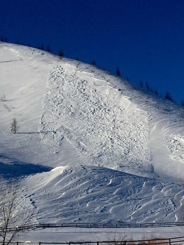 This is the Greenhorn Gulch Avalanche that hit near the valley floor in Greenhorn on Tuesday.