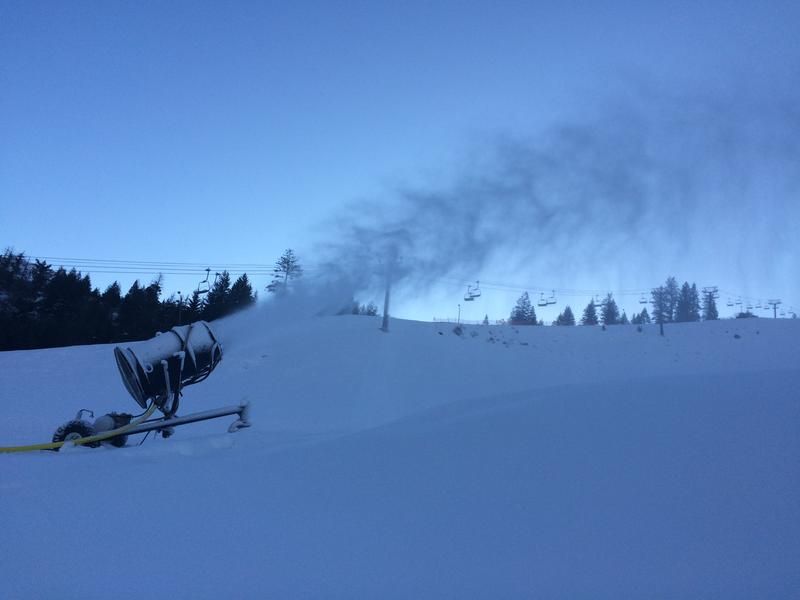 One of four snow guns at Bogus Basin being used to help skiiers get the most out of their season passes.