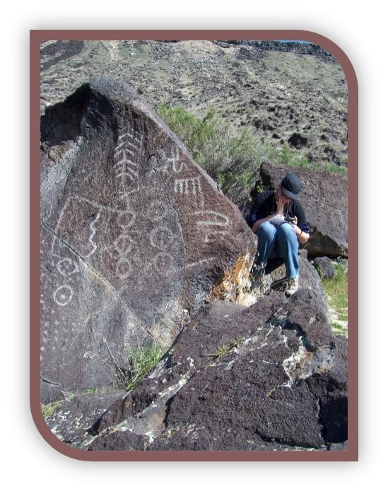 One of the petroglyphs near Melba.