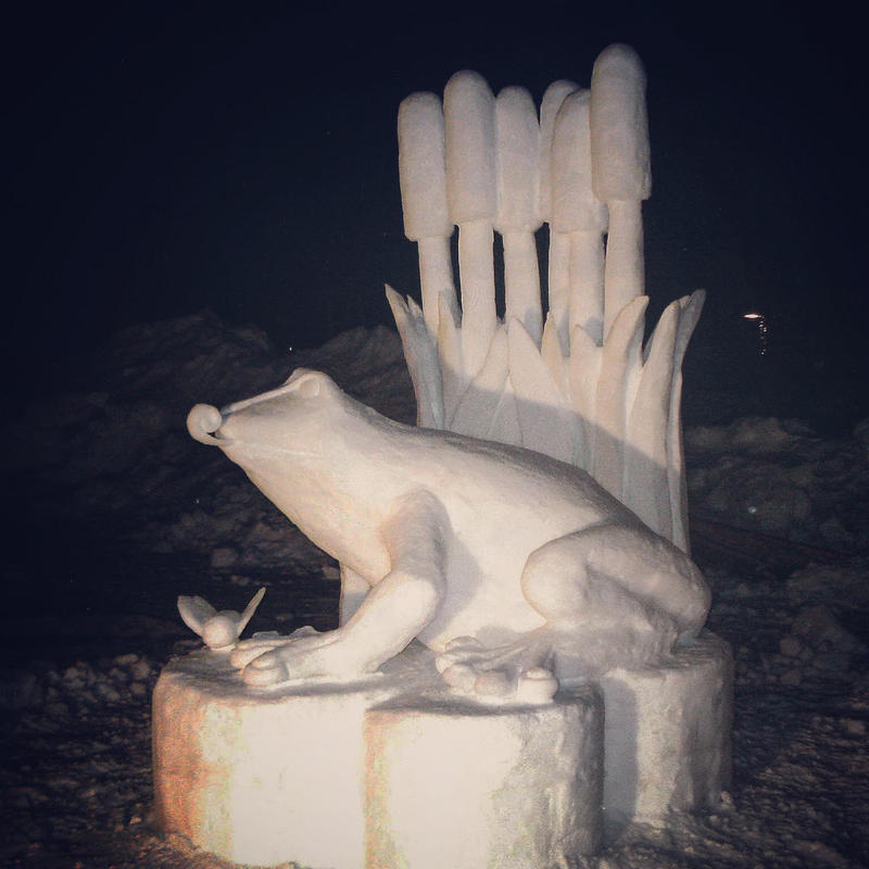 Another creation from snow sculptor Rich Brown.