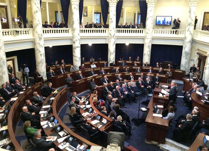 The Idaho Legislature listened to the governor's State of the State adress Monday.