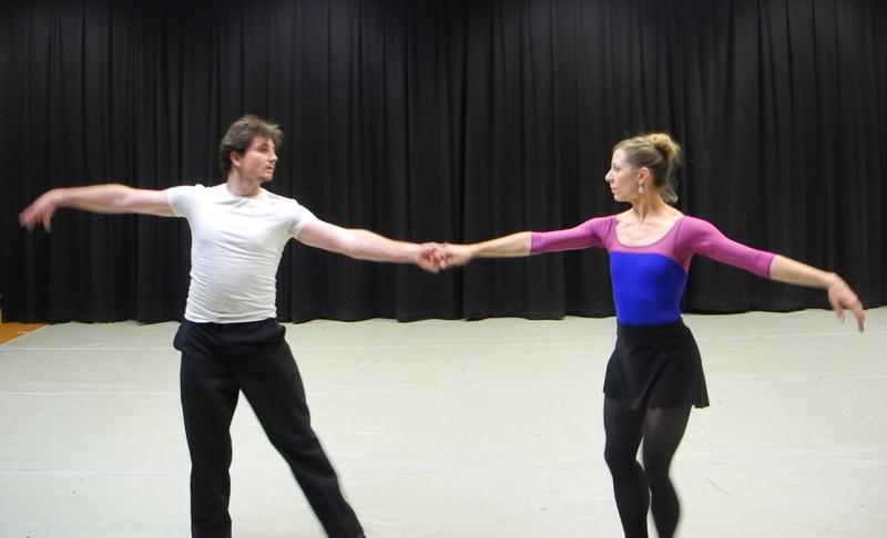 Ballet Idaho's Nic Gili and principal dancer Elizabeth Keller rehearse Nine Sinatra Songs.