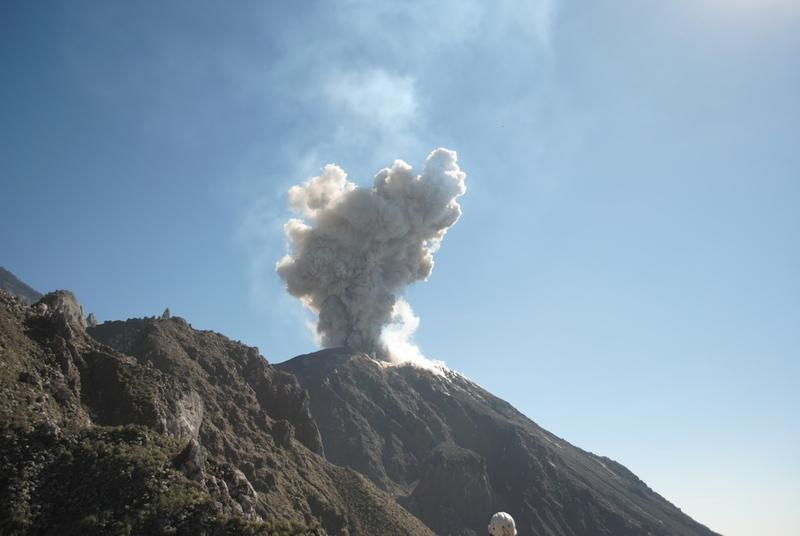 Santiaguito erupting.