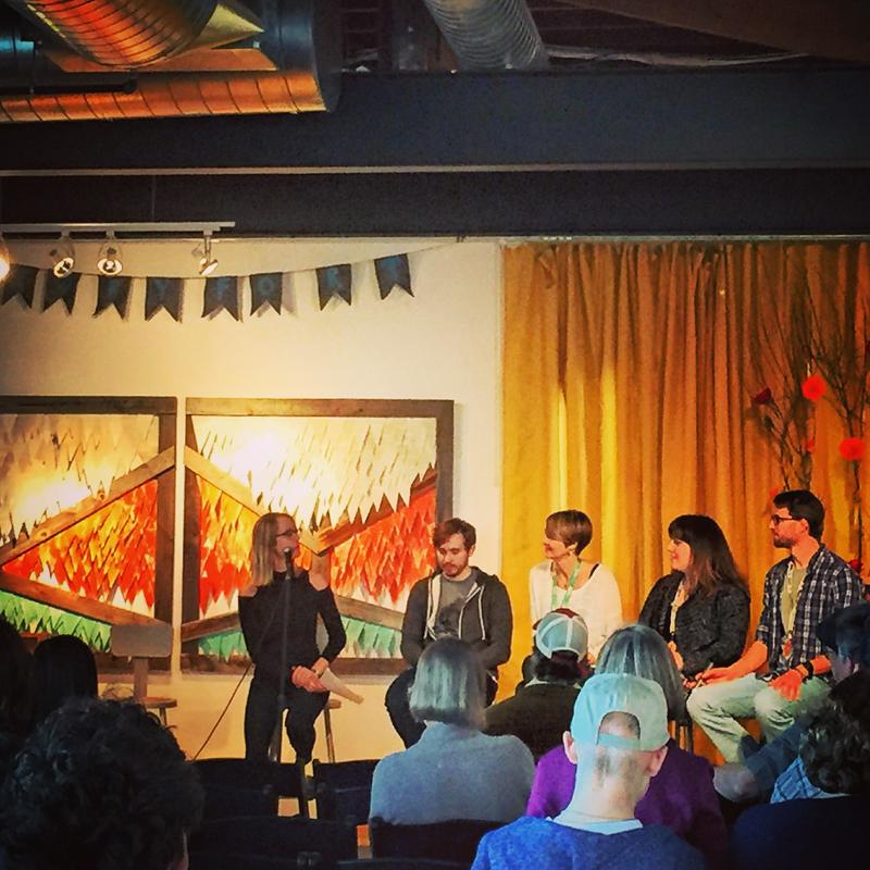 "Frankie Barnhill of KBSX hosted ""The Treefort Story,"" a panel of Treefort founders discussing the past, present and future of the music festival."