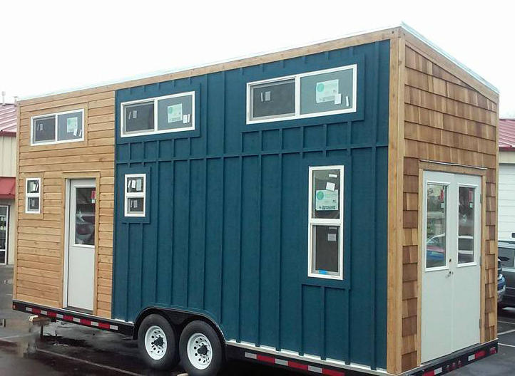 After Shaun Wheeler and his crew finished the exterior of the tiny home, the home's new owner, Shawna Embry, didn't have the funds for them to finish the interior. Instead, Embry will try to do the rest herself.