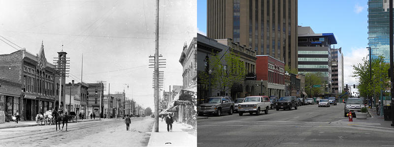 Here's a look at Main Street then (1905) and now (2016). The WalkAbout Boise tour tells the history of several buildings on Main Street and around downtown.