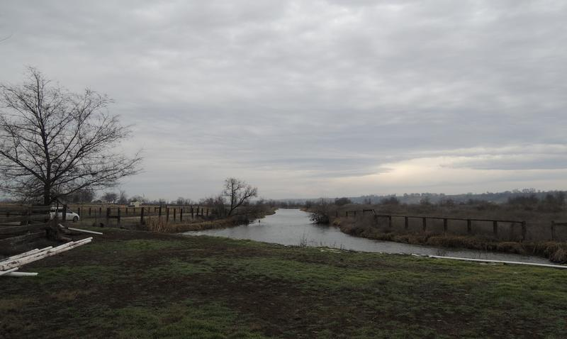 The Dixie Drain on a winter day shortly before construction began on a plant to remove phosphorous from the water.