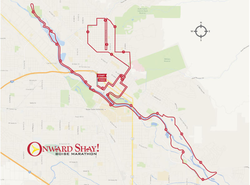 Much of the course will be run on the Greenbelt, with a scenic detour through historic Boise neighborhoods like Harrison Blvd. and Hyde Park.