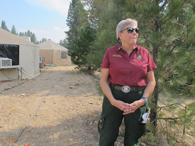 Beth Lund was a hotshot in the early 80s, back when female firefighters were almost unheard of. As a Type 1 incident commander, she's led the fight against some of the most complex wildfires in the country.