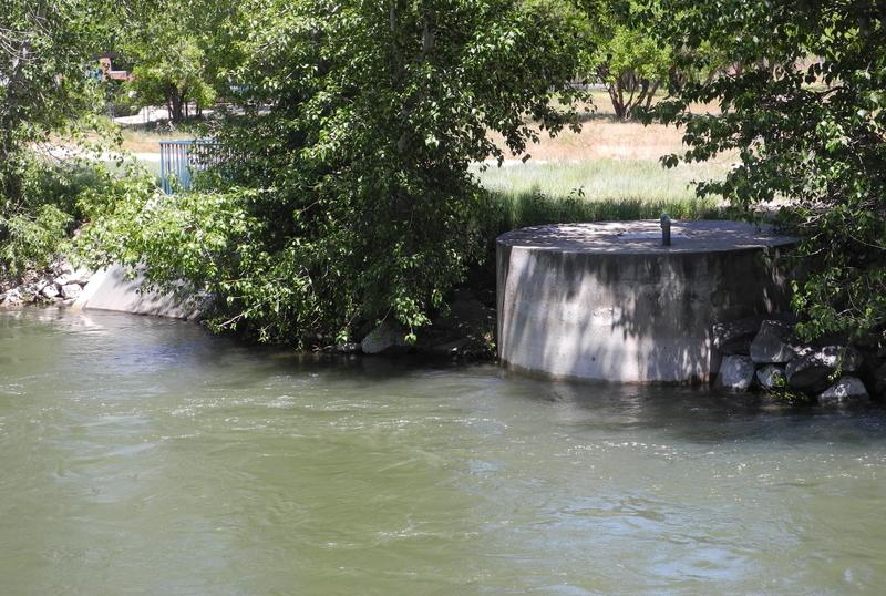 One spot where Boise River water is pumped into a treatment plant to become drinking water.