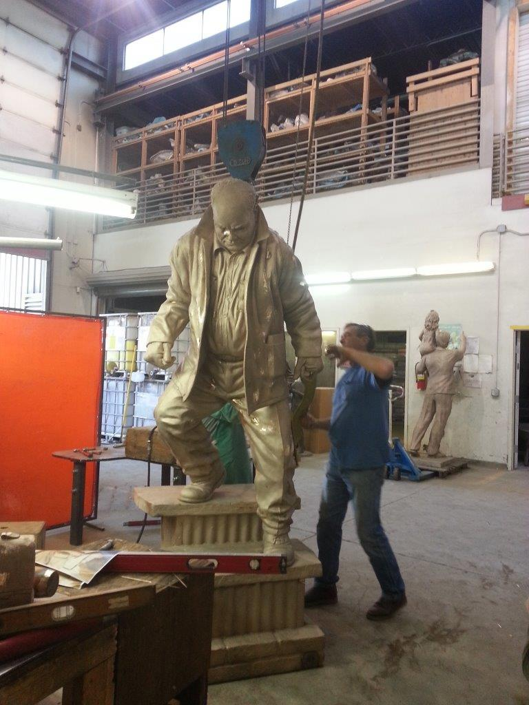 Here is The Last Whistle as it is coming together at the foundry.