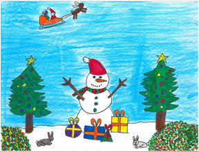 Here are some other great cards: Kailey Rose Billington was the from Compass Public Charter School was the 6th grade winner.