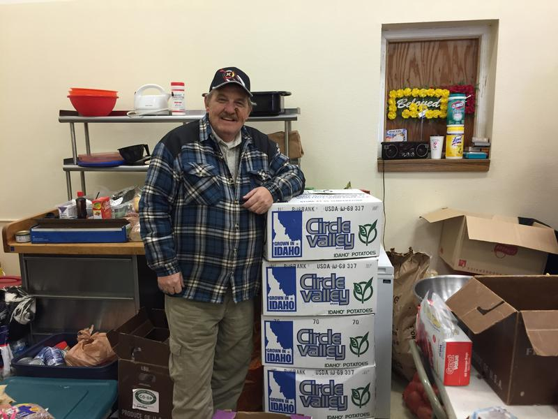 Idaho Veteran Steve Davis, drove 250 lb of donated potatoes to North Dakota this week. Davis traveled with the group Veterans for Standing Rock, to demonstrate against construction of the Dakota Access Pipeline.