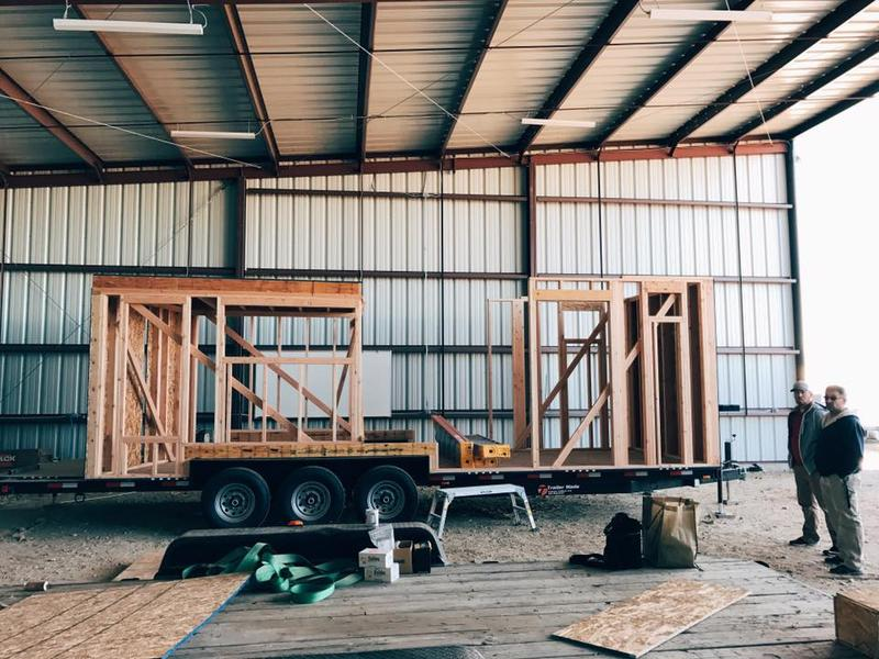 Work on this tiny house began in November and it should be complete by May of 2017.