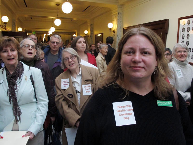 Hundreds of Idahoans lined the halls of the state Capitol to testify the hearing of a Medicaid expansion bill in Feb. 2016. Closing the health care gap is a priority for Idahoans, according to a new Boise State survey.