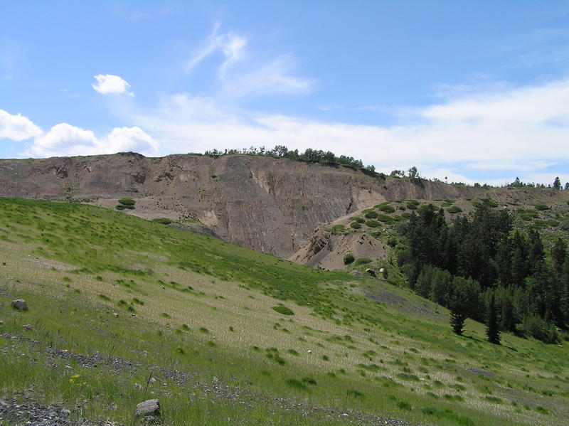 Waste rock at the defunct South Maybe Mine, an Agrium Inc.-owned site being managed under federal Superfund authority, is pictured July 16, 2009 in Soda Springs, Idaho.