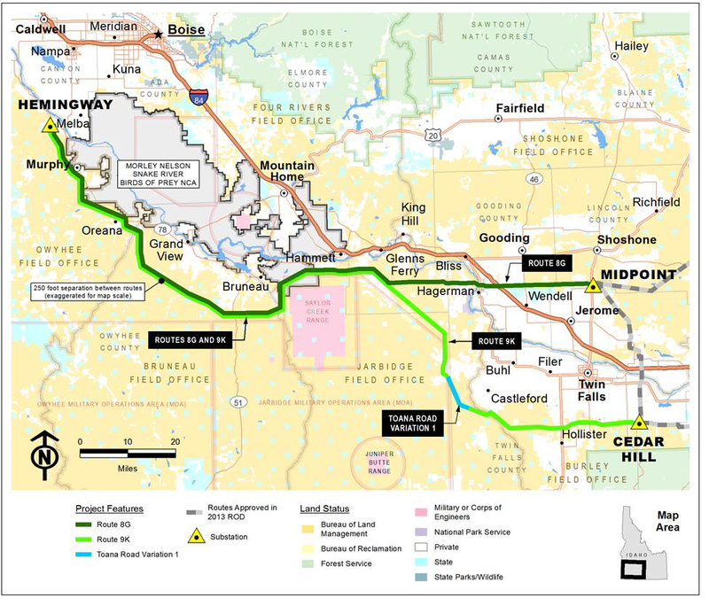 Melba Idaho Map.Blm Signs Off On Idaho Portion Of Gateway West Power Line Boise