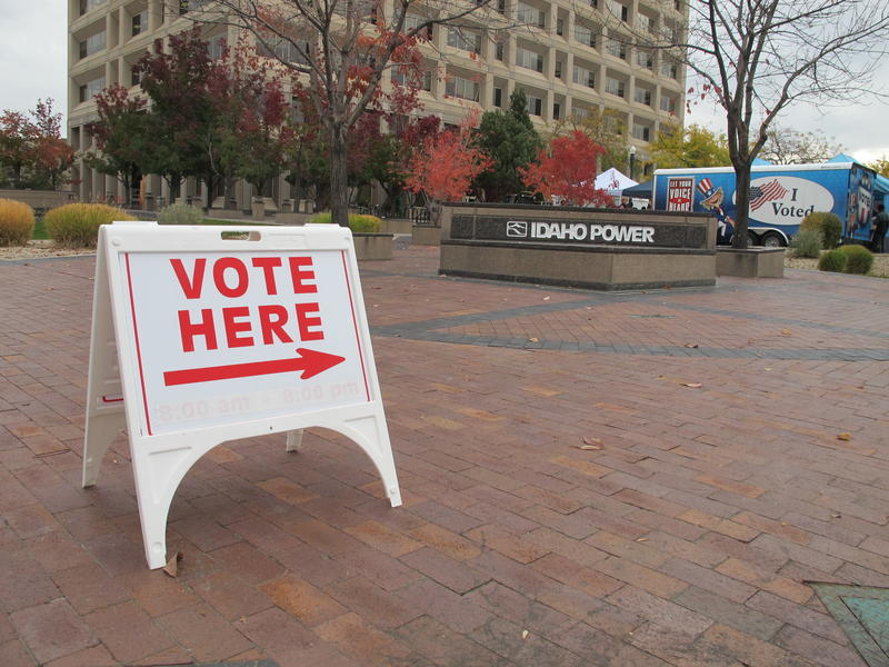 File photo of Ada County Elections sign in downtown Boise.