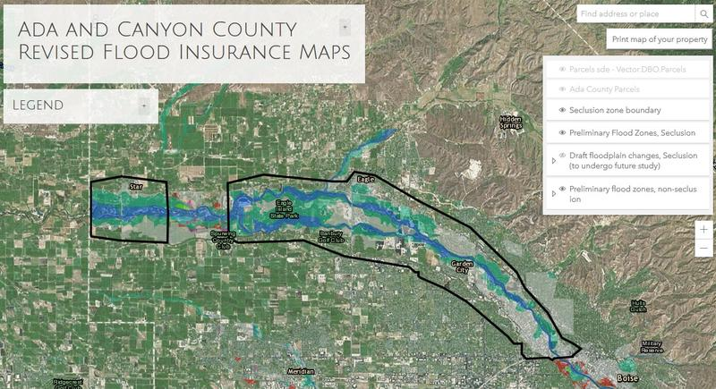 New FEMA Maps Could Affect Hundreds In Ada Canyon County Boise - Fema maps