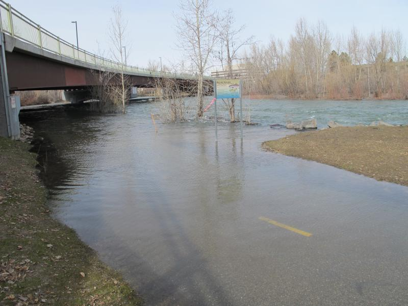 The Boise River has already flooded parts of the Greenbelt.