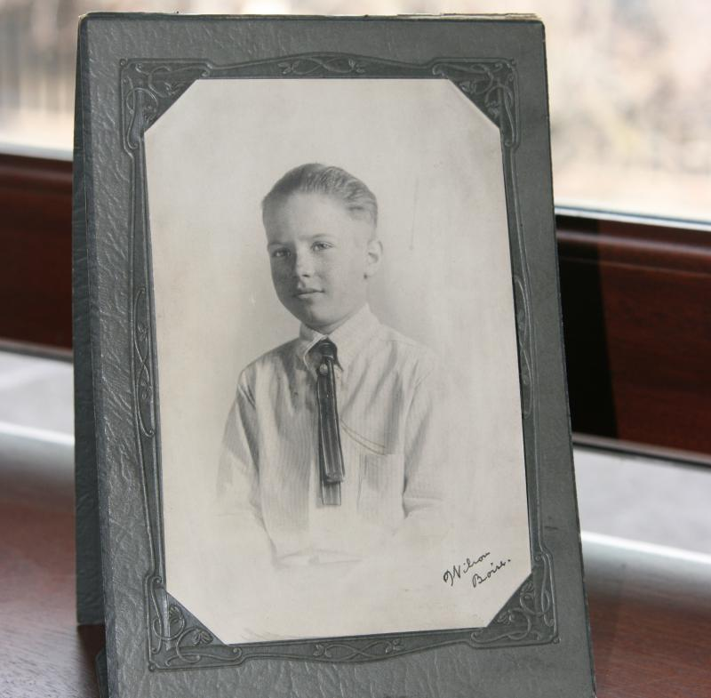 A photo of Grant Ward, the nine-year-old boy who fell to his death at the State Capitol, resides in the building.