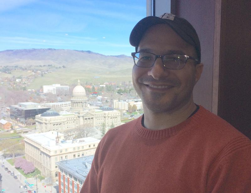 Hadi Partovi, founder of Code.org, above Boise, Idaho, April 2017.