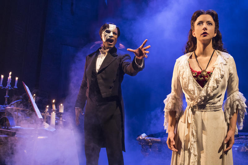 Derrick Davis stars as The Phantom of the Opera.