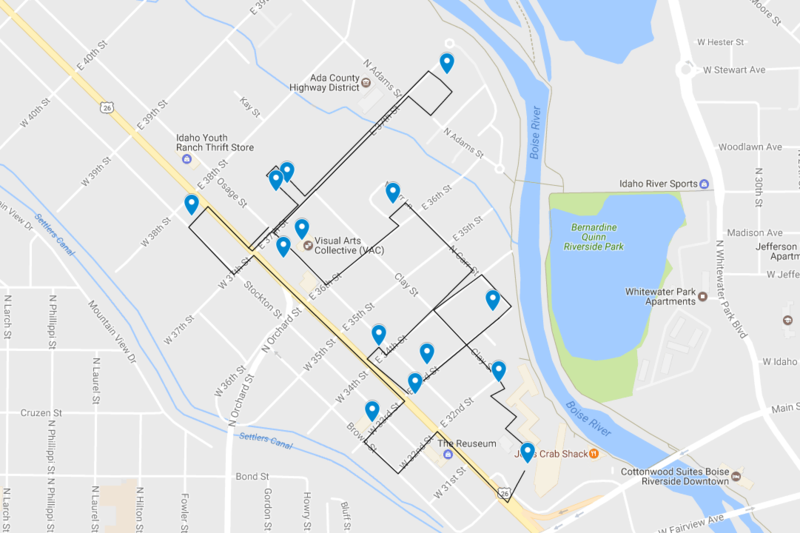 "Venues marked on this map are participating in the second-ever Garden City ""First Friday"" event."