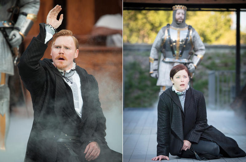 Jonathan Dyrud and Laura Welsh Berg alternate in the role of Hamlet.