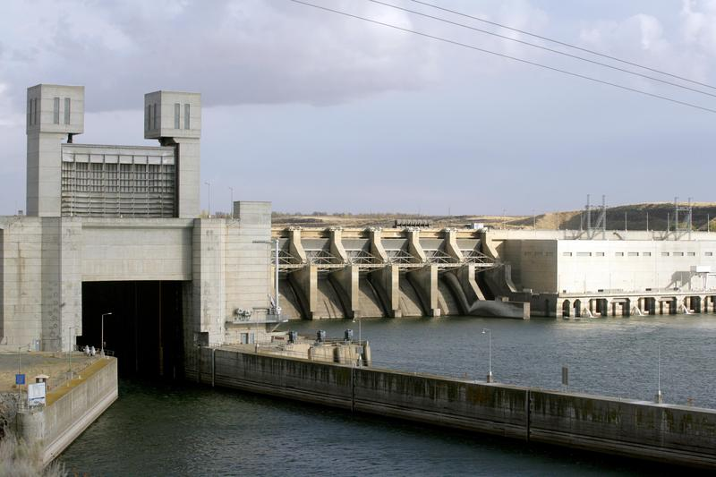 File photo of Ice Harbor dam on the Snake River in Pasco, Wash. The dam is one of four that environmentalists say should be removed to help a struggling salmon population.