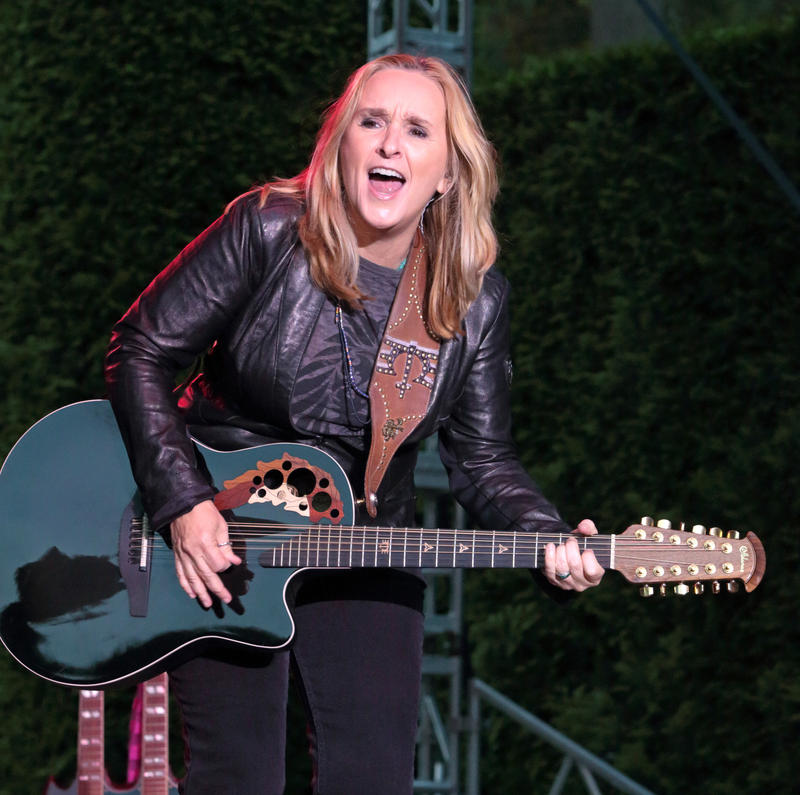 "Melissa Etheridge performs in concert during her ""This is M.E. Tour 2015"" at Longwood Gardens on Tuesday, Aug. 25, 2015, in Kennett Square, Pa."