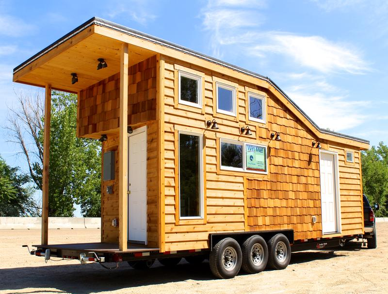 The completed tiny house.