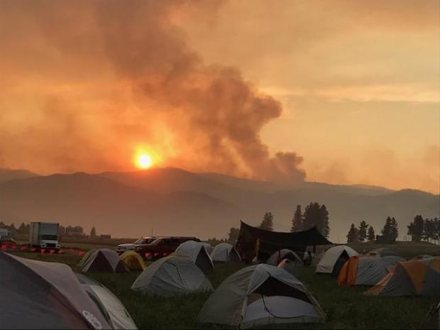 Photo taken from a fire camp in Montana 2017.