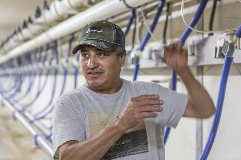 Hildegardo Torres, who maintains a dairy's machinery, says undocumented workers are nervous about ICE's plan to rent beds at the Jerome County Detention Center. The beds would be reserved for immigrant detainees bound for deportation.
