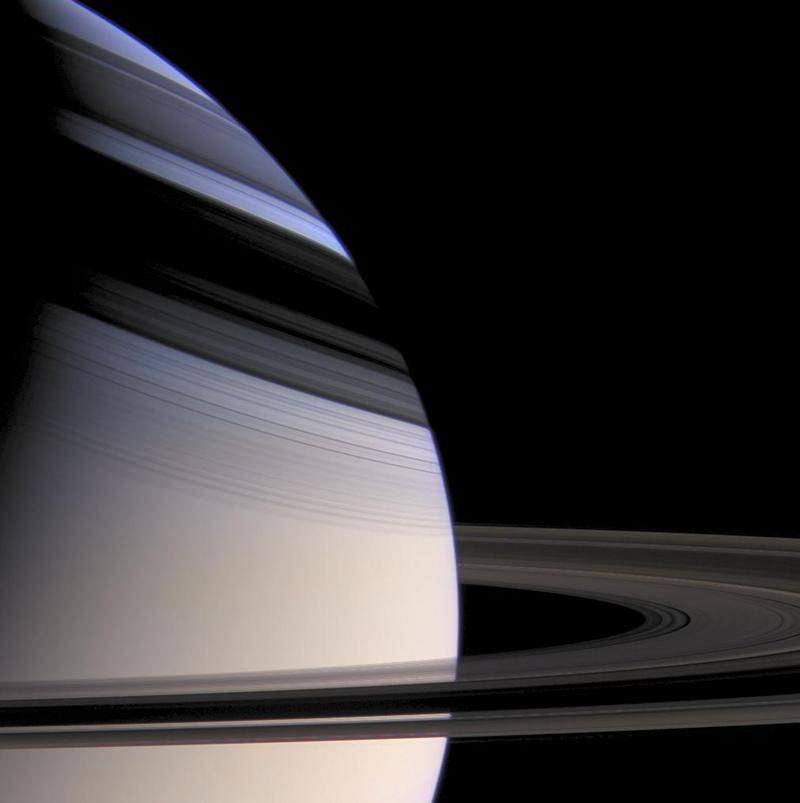 Saturn and its rings from Cassini's point of view.
