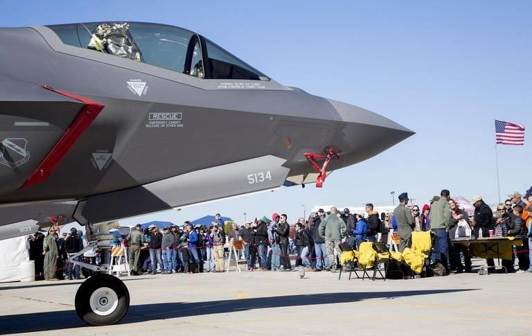 A pair of F-35s were on display during the Gowen Thunder air show in Oct. 2017.