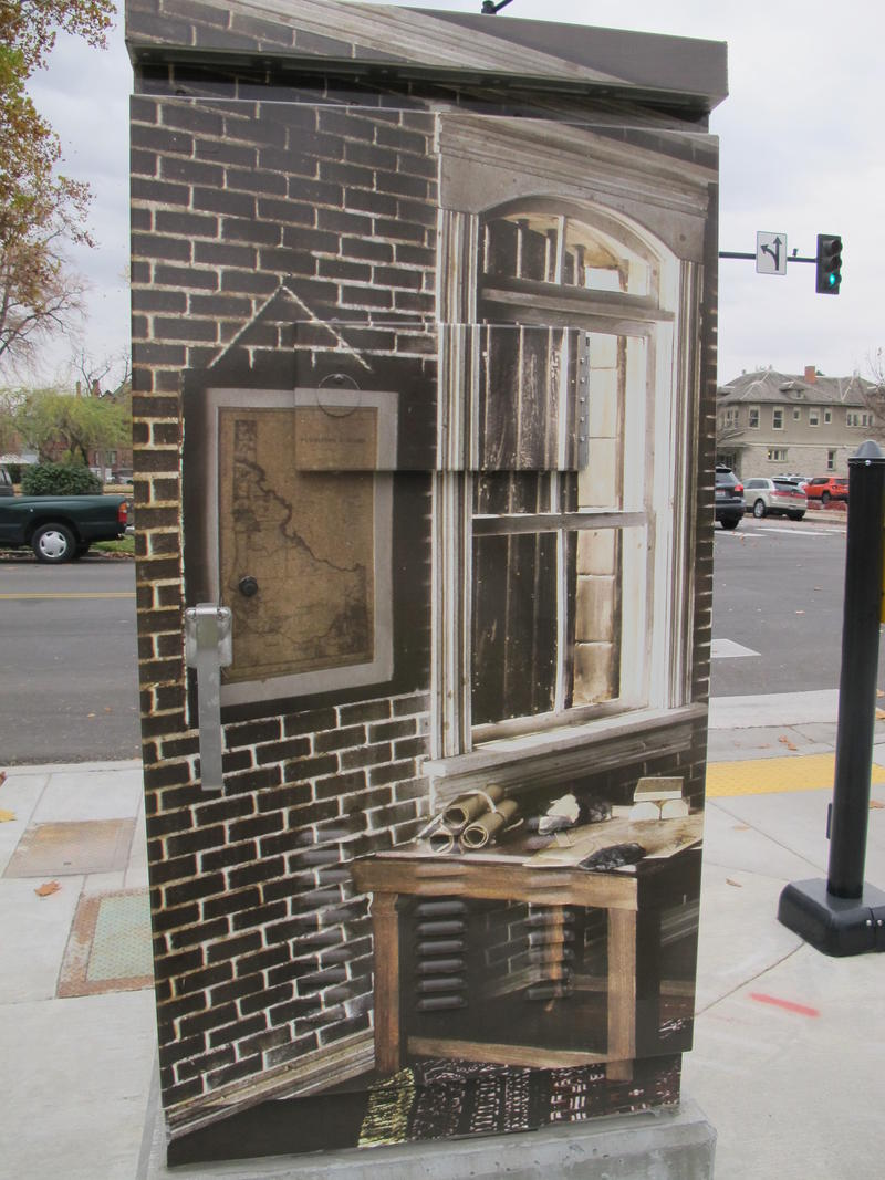 """Small Fortunes: The Historic Boise Assay Office, Re-Imagined"" by Robert Matejcek at 3rd and Main is a photo of a small model created by the artist."