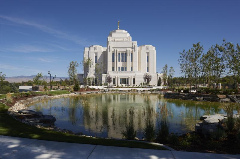 Meridian Temple, rear exterior, 2017.