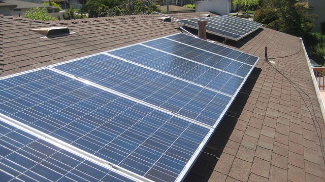 File photo of residential solar panels.