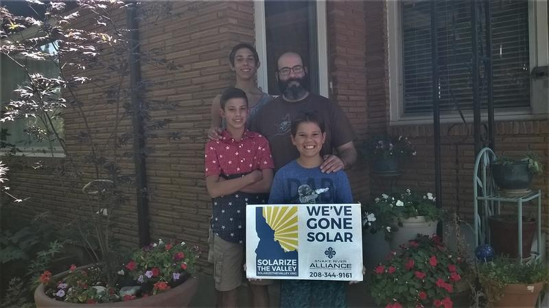 Jose Cordova works at Boise State and says since getting solar panels through the program his power bill is lower and he wanted to shrink his carbon footprint.